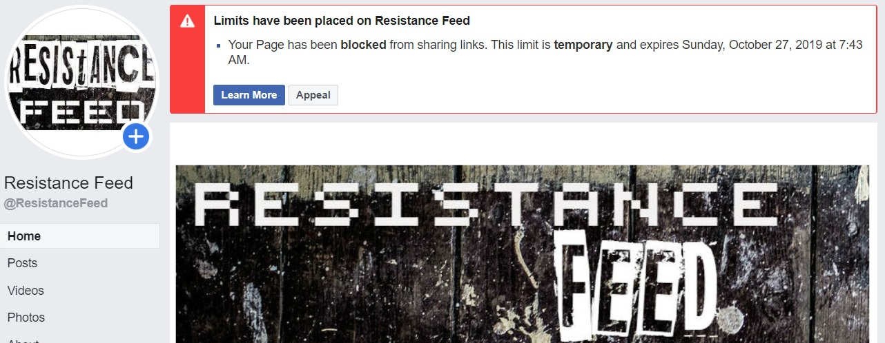 New Facebook censorship of conservatives