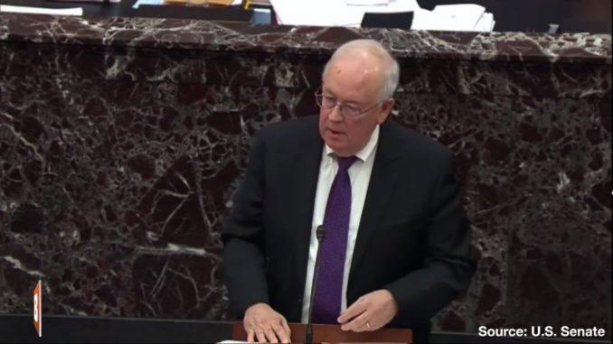 Ken Starr argues before Senate