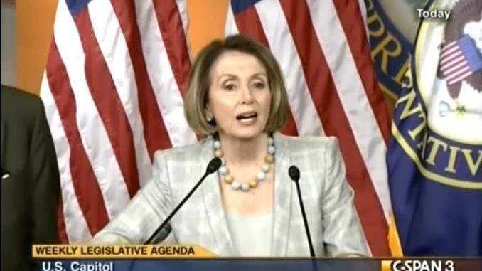 Nancy Pelosi said that Obama did not need congressional approval to use military force.